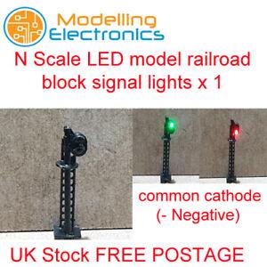 1 x N Gauge LED model railroad block signal lights Green over Red