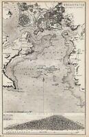 1880 Aufdruck ~ Plymouth Sound Gebiet & Wellenbrecher Sektionen