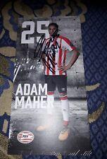 Signierte AK Adam Maher PSV EINDHOVEN NEU MEGA RAR
