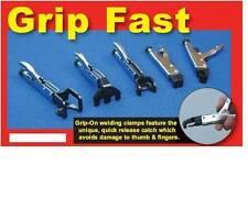 POWERTEC WELDING CLAMP SET 5 PIECE - QUICK RELEASE - GRIP ON WELD CLAMPS