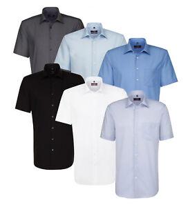 Seidensticker Herren Kurzarm Business Hemd Splendesto Popeline Unifarben 3001