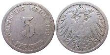 J 12   5 Pfennig KAISERREICH 1892 D in S-SS  502904