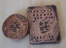 Copper 999 Fine bar bullion 352 Gram Coin 5 oz Hand hammered