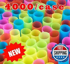 "8.5"" Wide Fat Multi Color Unwrapped Jumbo Boba Tea Coffee Straws- 4000/case BULK"