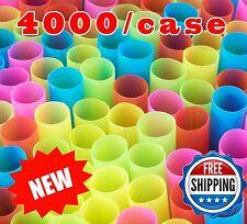 "8.5"" Wide Fat Multi Color Unwrapped Jumbo Boba Tea Coffee Straws- 4000/case BULK"