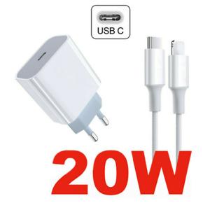 PD 20W Chargement rapide USB-C chargeur adaptateur pour iPhone 12 Pro avec câble
