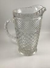 Vintage Antique Pressed Glass Water (or Beer) Pitcher