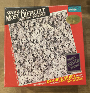 Worlds Most Difficult Jigsaw Puzzle Dalmatians 500 pc Double Sided**New**Sealed*