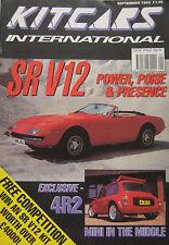 Kitcars International 09/1992 featuring Mini 4R2, SR V12, Midtec Spyder, Pilgrim