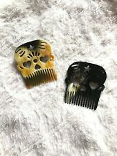 Personalized Horn Skull Comb, Beard Shape Comb, Pocket Comb, Beard Comb