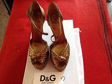 D&G Pumps, neu, Gr. 40,  nicht getragen, Plateau Sohle, Gold- Kupfer farben,