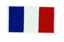 Toppe Toppa PATCH FRANCIA 3x2 Bandiera banderina ricamata termoadesivo francese