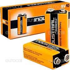 20 BATTERIE DURACELL INDUSTRIAL ALCALINE PROCELL TRANSISTOR 9v