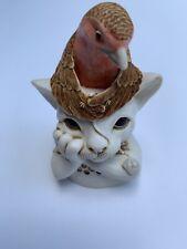 1999 Harmony Kingdom Turdus Felidae Cat Robin Treasure Jest
