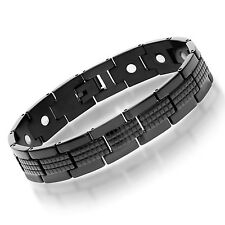 Stainless Steel black Tera Bracelet for Men with Magnets