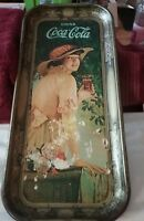 COCA COLA Advertising LONG TIN Serving Tray Vintage 1972  19 x 18 1/2 inches