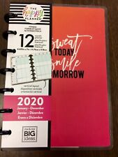 DATED! New! Happy Planner Mini Fitness Vertical 12 Month January - December 2020