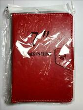 """Red Multi Angle Leather Case Stand for 7"""" Tablet MID Google Android 4.0 PC"""