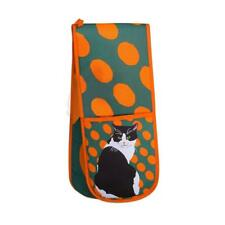 Leslie Gerry LGDOG002 Double Oven Glove Black and White Cat