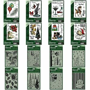 CRAFTERS COMPANION FESTIVE EMBOSSING FOLDER 5 X 7 CHRISTMAS & MATCHING STAMPS