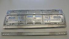 2 Stk. Kennzeichenträger Chrom Optik Nummernschild Rahmen Kennzeichen Halter