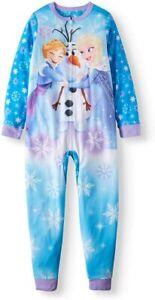DISNEY FROZEN ANNA, ELSA & OLAF Pajamas Blanket Sleeper NWT Girls Size 6-6X