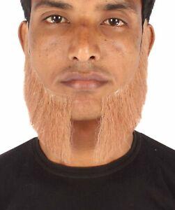 HPO Men's Human Hair Sideburns Cosplay Facial Hair M-1309