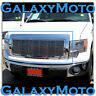 09-14 Ford F150 Front Hood All Chrome Billet Grille+Complete Shell FX+STX+XLT+XL