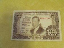 1953 EL BANCO DE ESPANA 100 CIEN PESETAS SPAINISH BANKNOTE