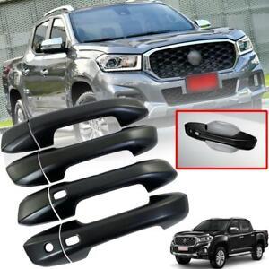 Door Handle Cover Smart Keyless Matte Black For MG Extender Maxus T70 Pickup