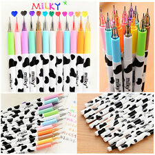 12Color Candy Colored Milky Gel Pen kawaii Stationery School Supplies Draw Pen E