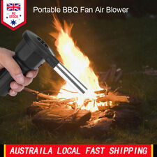 Battery Powered BBQ Fan Air Blower for Outdoor Camping Picnic Grill Barbecue AU