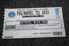 TICKET )) PSG V HAPOEL TEL AVIV )) UEFA Cup 2006/2007