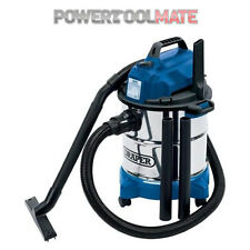 Draper 13785 240V Industrial Wet & Dry Vac Cleaner 20L 1250W Stainless Steel