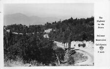 1940s San Diego California Frasher Highway Palomar Mountain RPPC postcard 2544