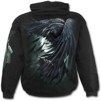 SPIRAL DIRECT Shadow Raven Hoodie/Tattoo/Goth/Skull/Gift/Raven/Rock/Xmas/Hood