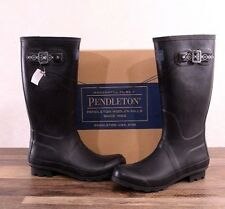 Pendleton Matte Black Classic Rubber Rain Boots Women's Size 8 MED 62015 Boot