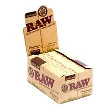 Raw Organic Hemp 1 1/4  rolling paper + tip natural hemp gum Full box 24 Packs