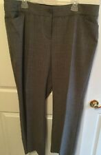 Women's Size18 Glen plaid pants, Lane Bryant, Gray Multi, VGUC