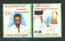 PAPUA NEW GUINEA 850-51 SG745-46 Used 1995 Peter To Rot set of 2 Cat$7