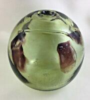 """🔷 Early JOHN NYGREN Studio Art Glass Hand Blown 7 3/4"""" Vase Signed Dated 1969"""