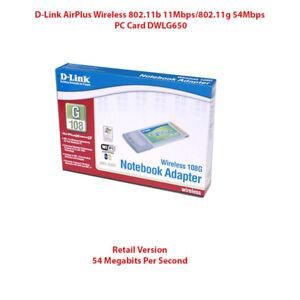 D-Link Retail High Speed 2.4GHz (802.11g) Wireless Cardbus Adapter DWL-G650
