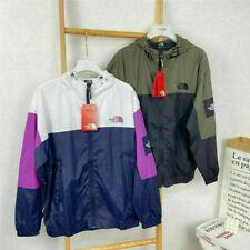 The North Face00 Women Outdoor Hooded Jacket Windbreaker Men Zip Soft Shell Coat
