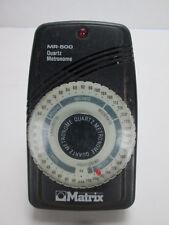 Matrix Metronome MR-500 Quartz Tone or Light Portable Adjustable Time Music T