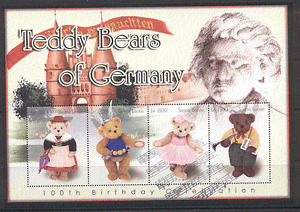 Sierra Leone 2003 Teddy Bear/Bears/Teddies/Toys/Music/Costumes 4v sht (s5456)