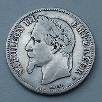 France. Napoléon III 2 FRANCS 1869 A Paris