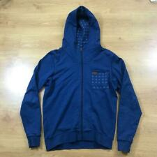 G Star Raw Mid Blue Long Sleeved Full Zip Hoodie Pocket Large L Authentic