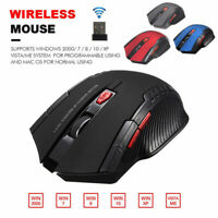 Mouse da gioco Ottico Senza Fili USB Wireless per PC Laptop 1200DPI 2,4G WINDOWS