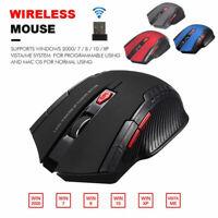 Mouse da gioco Ottico Senza Fili USB Wireless per PC Laptop 1200DPI 2,4G WINDOWS