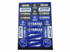 Genuine Yamaha GYTR BLU CRU Racing Blue Sticker Sheet